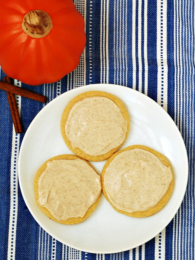 Pumpkin Cut-Out Cookies with Cinnamon Frosting