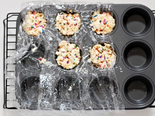White Chocolate Funfetti Popcorn Balls by @TheRedheadBaker