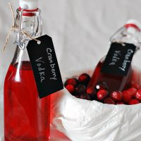 Cranberry-Infused Vodka #SundaySupper