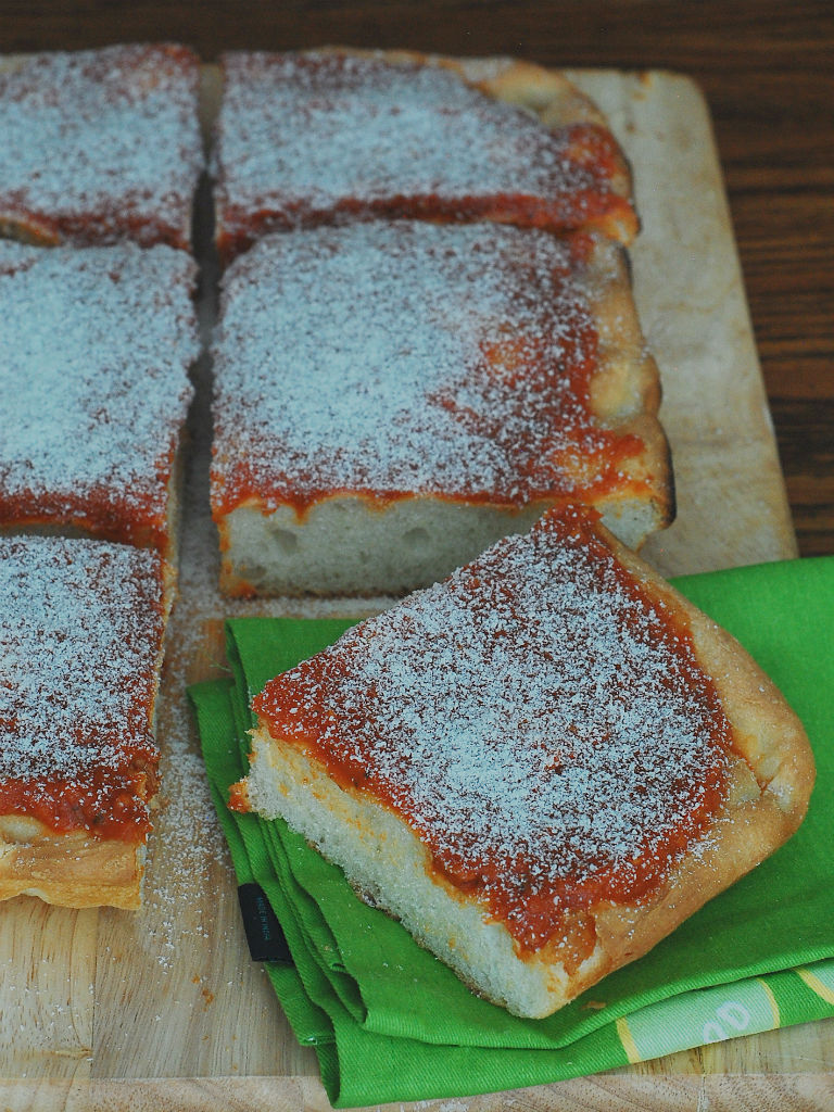 Philadelphia Tomato Pie #SundaySupper