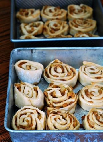 Caramel Apple Cinnamon Rolls | theredheadbaker.com