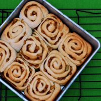 Caramel Apple Cinnamon Rolls {whats baking}