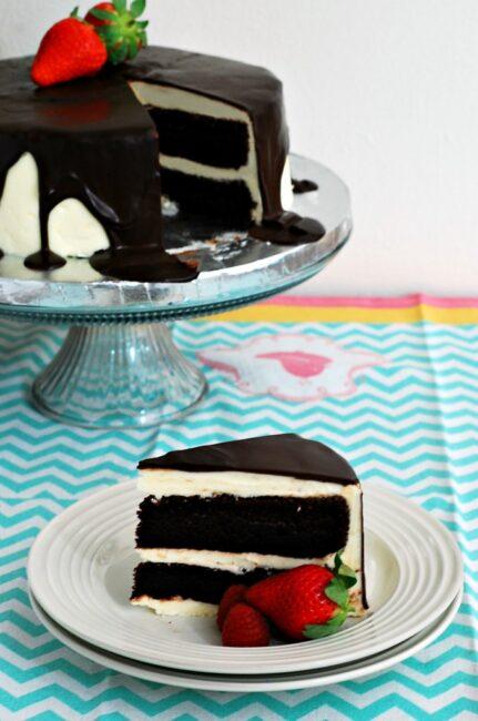 Tuxedo Cake #SundaySupper | theredheadbaker.com