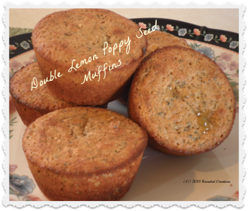 Double Lemon Poppyseed Muffins by Kneaded Creations