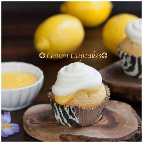 Lemon Cupcakes by A Healthy Life for Me