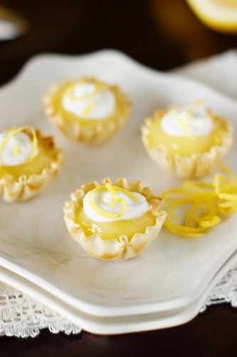 Lemon Curd Tartlets by The Kitchen is my Playground