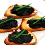 Blackberry-Rhubarb Chutney and Goat Cheese Crostini