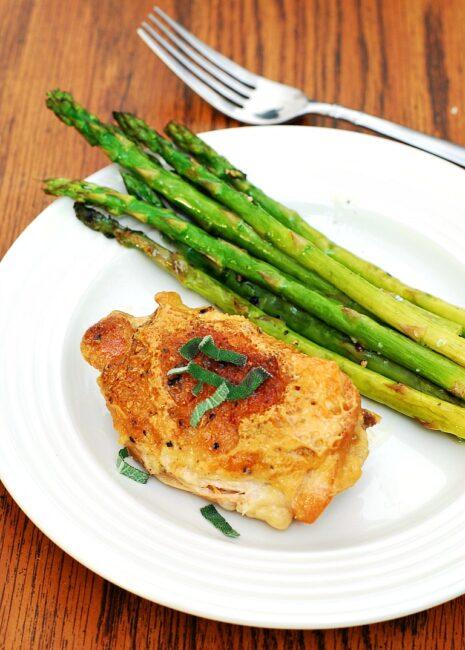 Chicken Thighs Braised in Milk | theredheadbaker.com