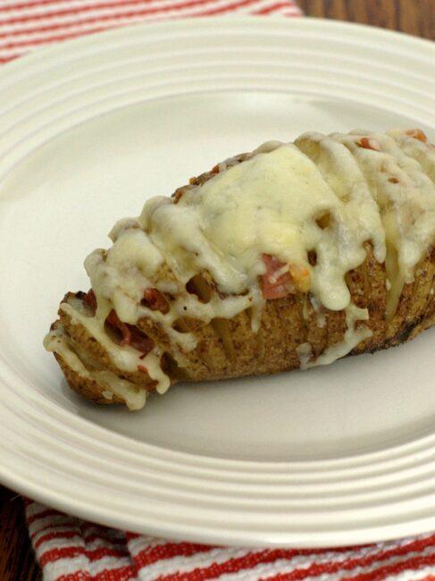 Hasselback Potatoes a la Mancha by The Redhead Baker