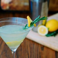 Meyer Lemon Rosemary Martini #SundaySupper