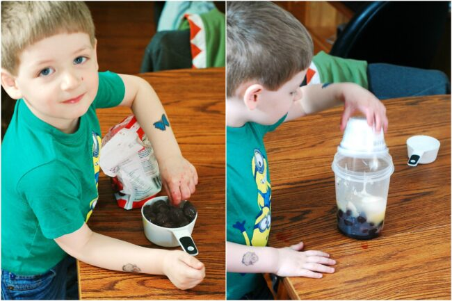 Cherry Apple Smoothie #CookingWithKids #CLBlogger | theredheadbaker.com