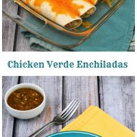 Chicken Verde Enchiladas #WeekdaySupper