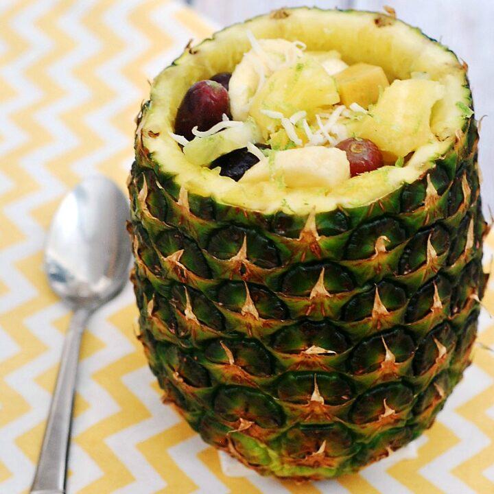 Tropical Fruit Salad #SundaySupper   theredheadbaker.com