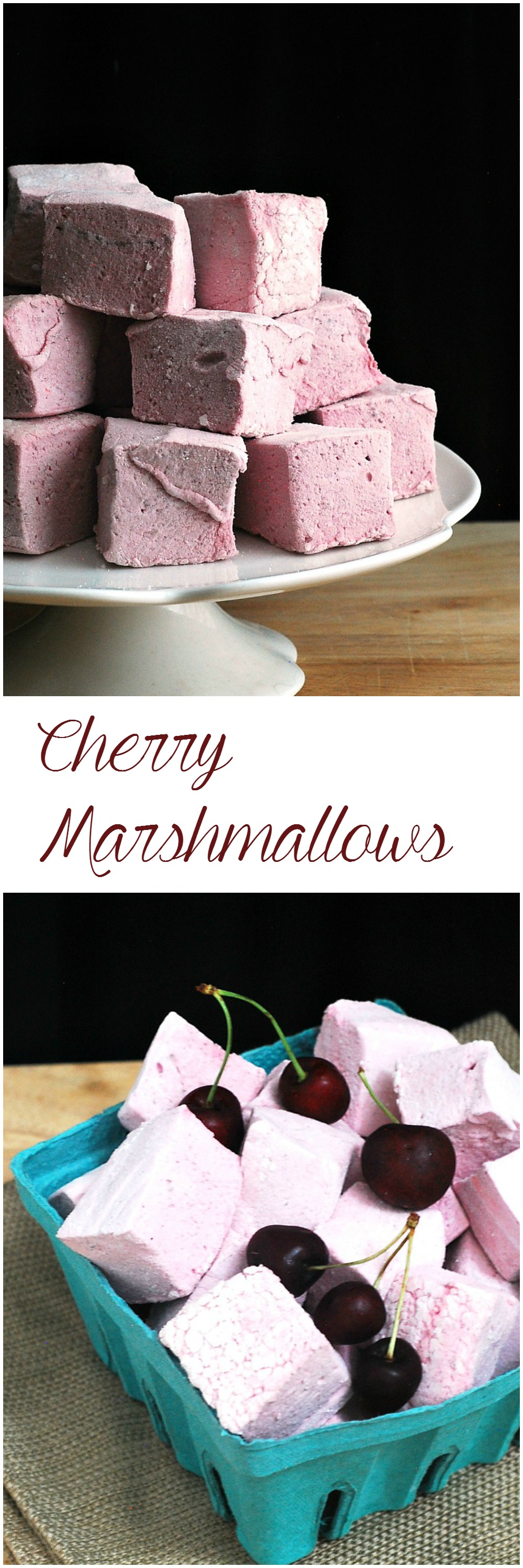 Homemade marshmallows are head and shoulders above store-bought. Fresh sweet cherry puree adds beautiful color and flavor to these marshmallows. By theredheadbaker.com