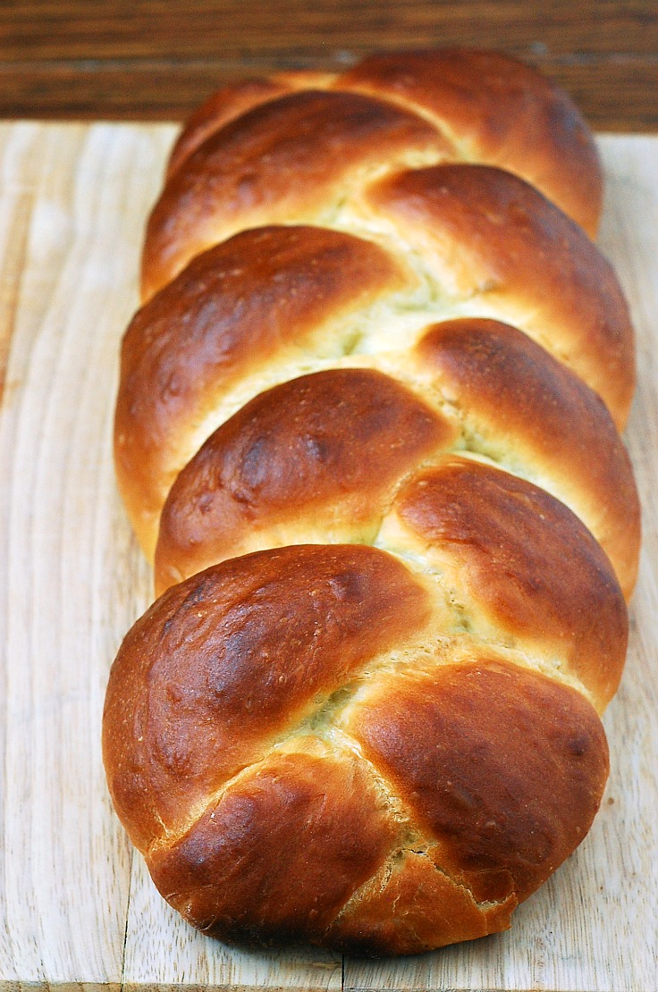Challah is bread that is enriched with eggs, and traditionally eaten by members of the Jewish religion on the Sabbath and religious holidays. Similar to brioche, it also makes a tasty French toast.