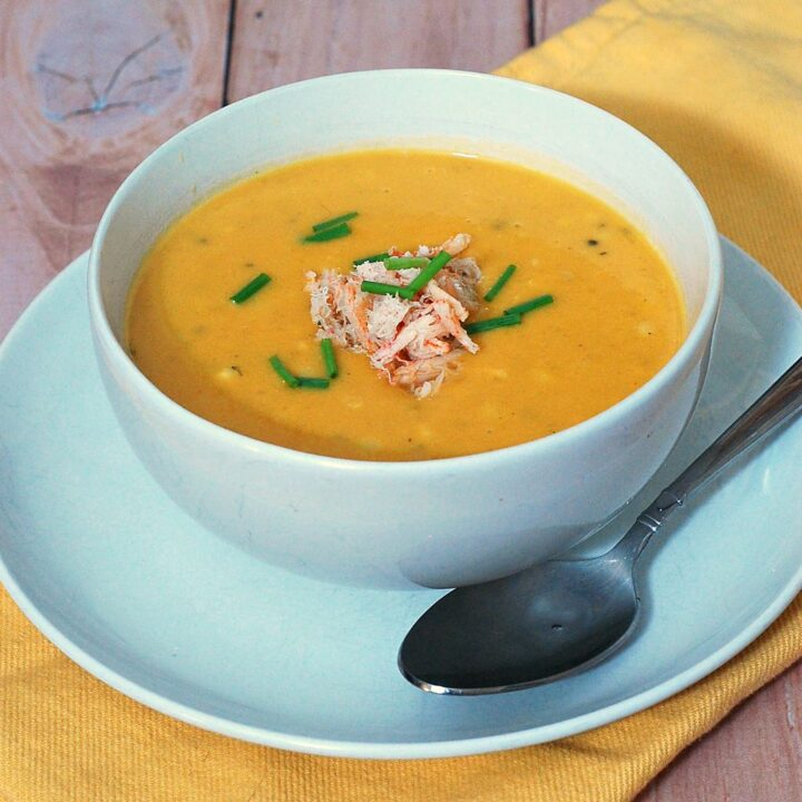 Sweet Corn Chowder with Crabmeat #SundaySupper