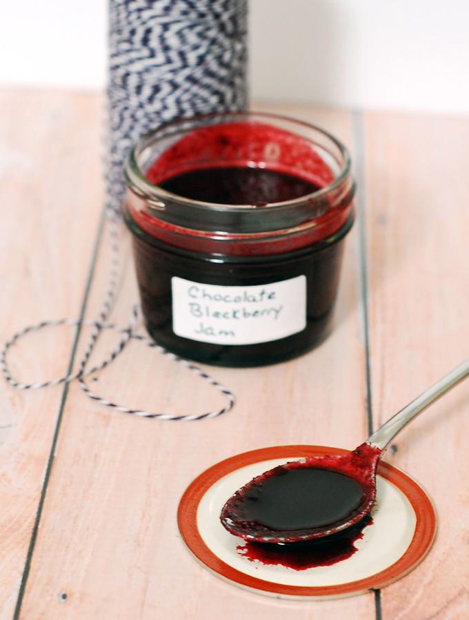 Chocolate Blackberry Preserves #SundaySupper