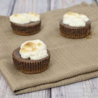 Mini S'mores Cheesecakes #WhatsBaking