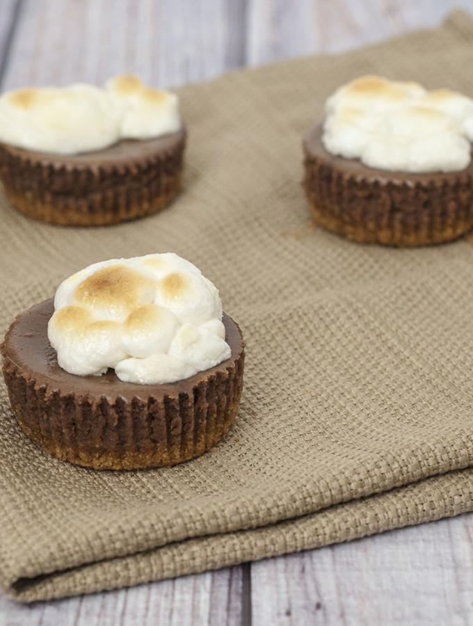 Mini S'mores Cheesecakes #WhatsBaking
