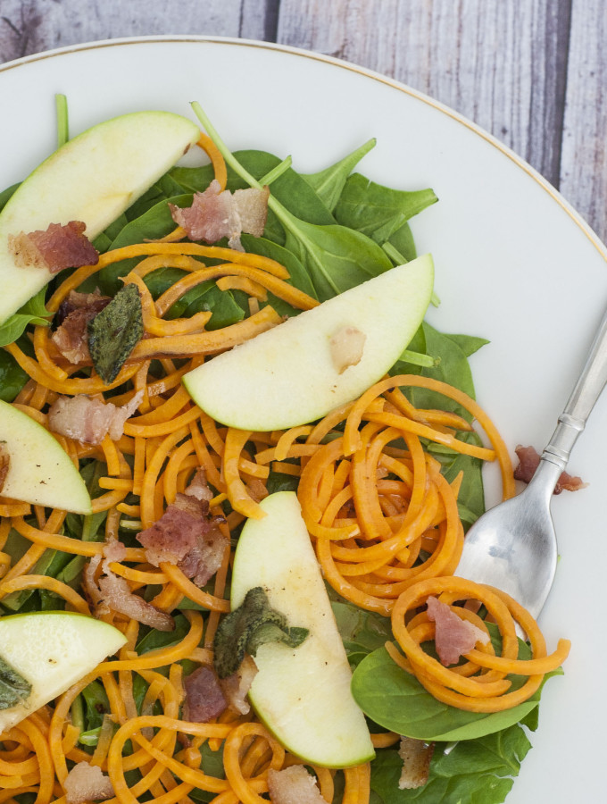 Sweet Potato Noodle Salad with Brown Butter Dressing