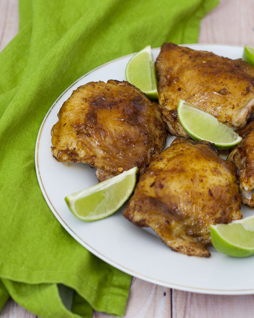 Tequila-Glazed Chicken Thighs by The Redhead Baker