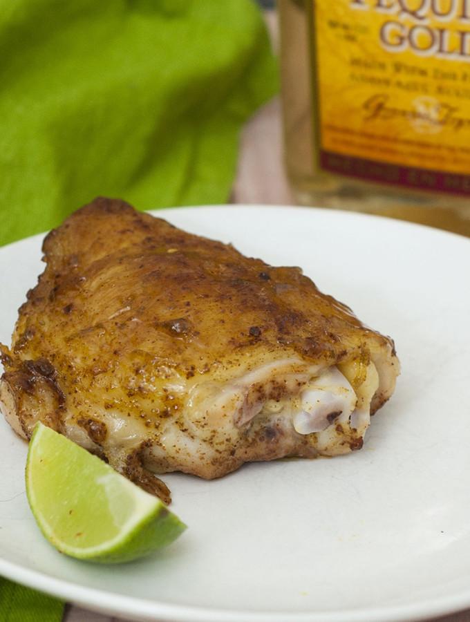 Tequila-Glazed Chicken Thighs