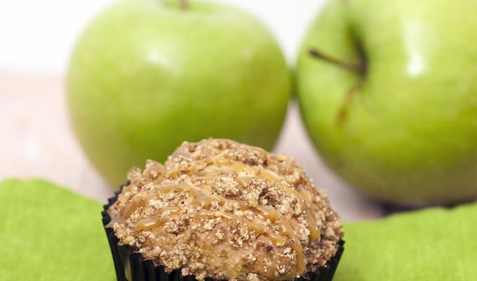Caramel Apple Streusel Muffins #SundaySupper