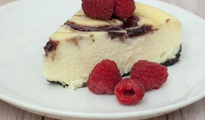 White Chocolate Raspberry Cheesecake #SundaySupper