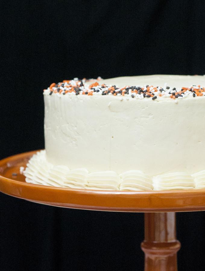 Pumpkin Cake with Salted Caramel Icing