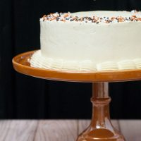 Pumpkin Cake with Salted Caramel Icing