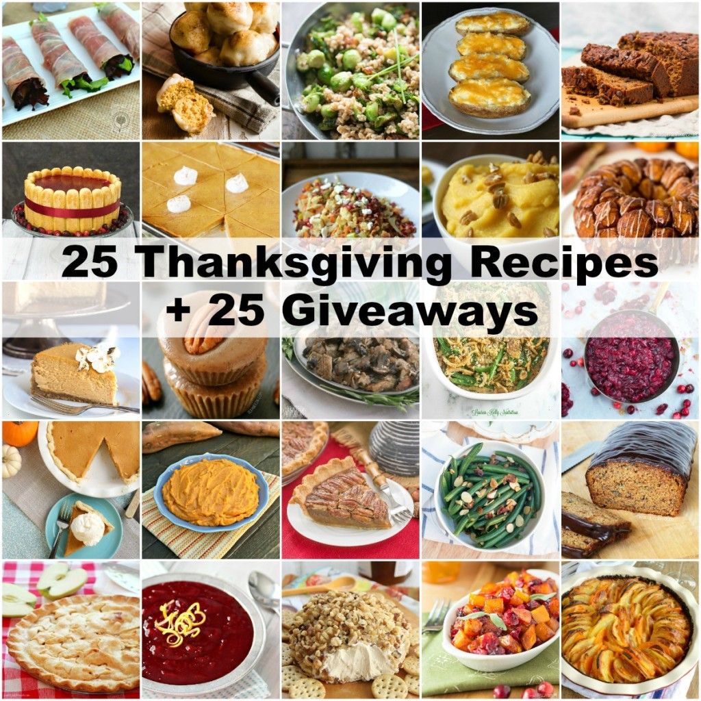 25 Thanksgiving Recipes Roundup TheRedheadBaker.com