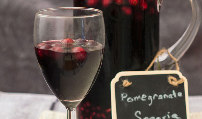 Pomegranate Sangria #SundaySupper