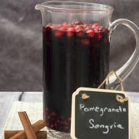 Pomegranate Sangria #SundaySupper