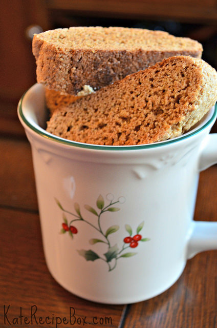 kates recipe box whole wheat biscotti