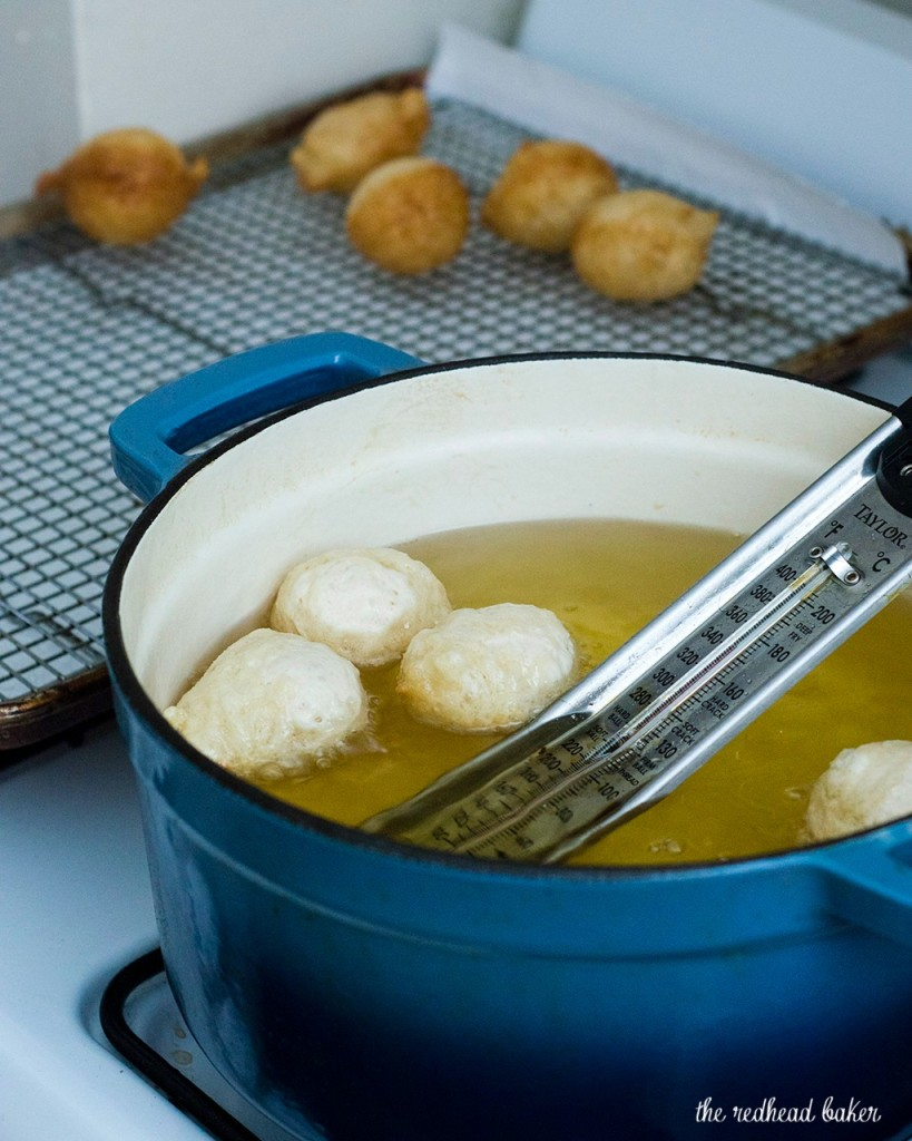 Light, airy puffs of dough are fried, then coated in a sweet honey syrup. Greeks traditionally served them as dessert, but they're equally delicious at breakfast! #SundaySupper TheRedheadBaker.com