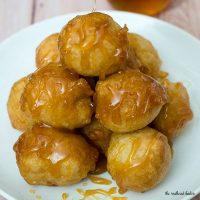 Loukoumades (Greek Honey Fritters) #SundaySupper