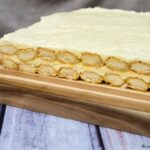 Lemoncello tiramisu adds a burst of bright flavor to the traditional layered Italian dessert. #SundaySupper TheRedheadBaker.com