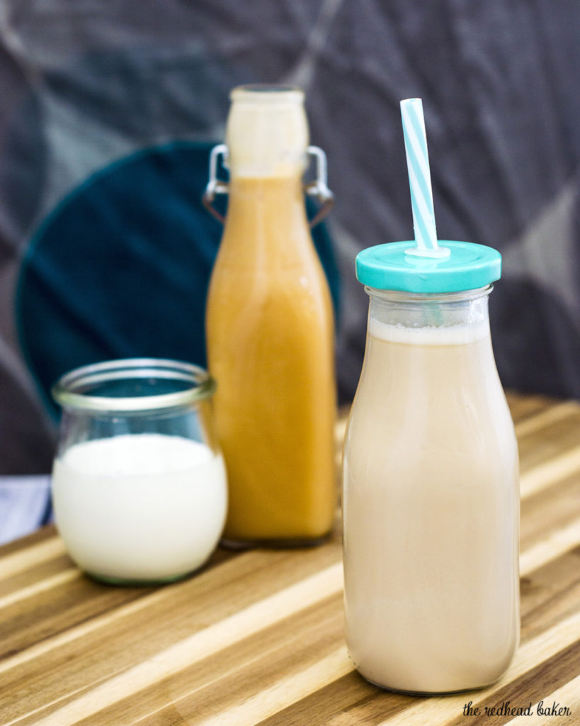 Don't spend big bucks on coffeehouse caramel coffee anymore! It's so easy to make your own brunch-worthy iced caramel coffee at home! #BrunchWeek TheRedheadBaker.com