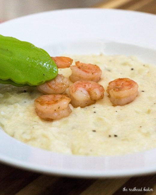 Shrimp and grits are a traditional southern breakfast ...