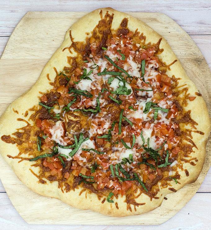 Bruschetta Pizza #ProgressiveEats