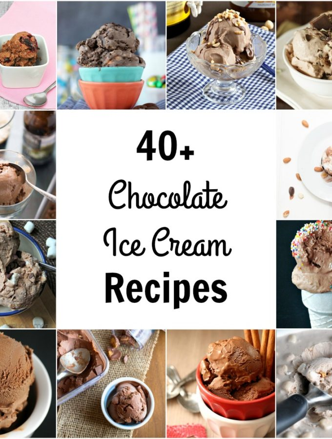 National Chocolate Ice Cream Day is coming up on June 7. I've compiled 43 recipes, from strictly chocolate, to lots of mix-ins. TheRedheadBaker.com