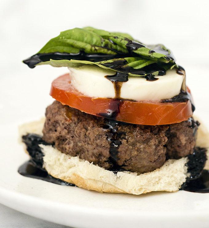 Caprese Burgers #SundaySupper