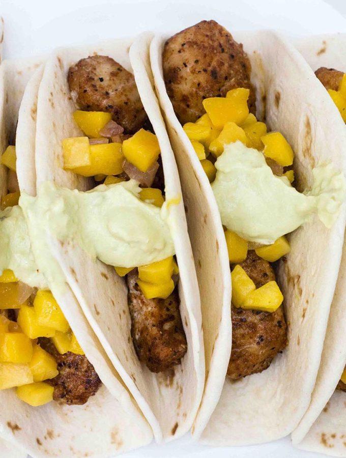 Mahi Mahi Tacos with Mango Salsa