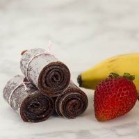 Strawberry Banana Fruit Leather