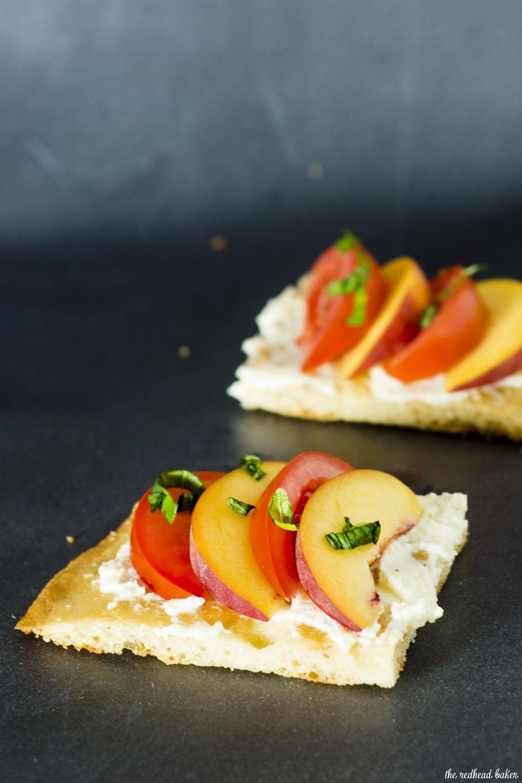 Tomato-Peach Flatbread by The Redhead Baker