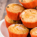 Cranberry-orange muffins are tender, buttery, and loaded with tart dried cranberries and orange zest. They're a delicious way to start your morning!