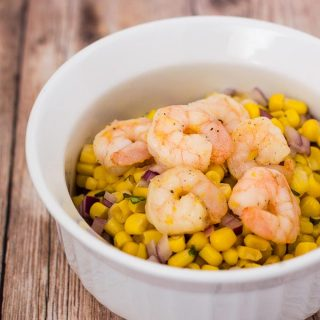 Lemon Shrimp with Basil Corn Salad