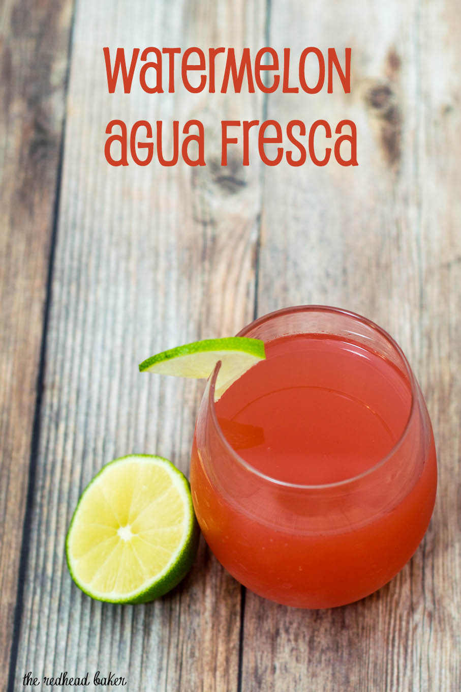 Watermelon agua fresca with a splash of lime juice is a refreshing summer drink, based on the popular drink from Mexican street vendors and bodegas.