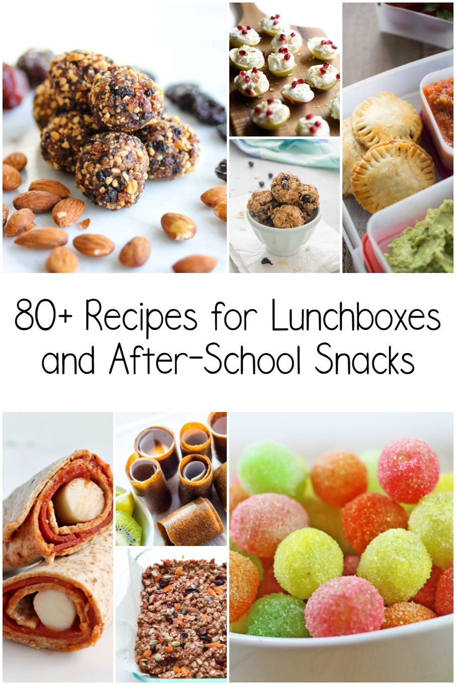 It's back-to-school time! I've compiled more than 80 recipes to include in your child's lunchbox, or serve as an after-school snack.