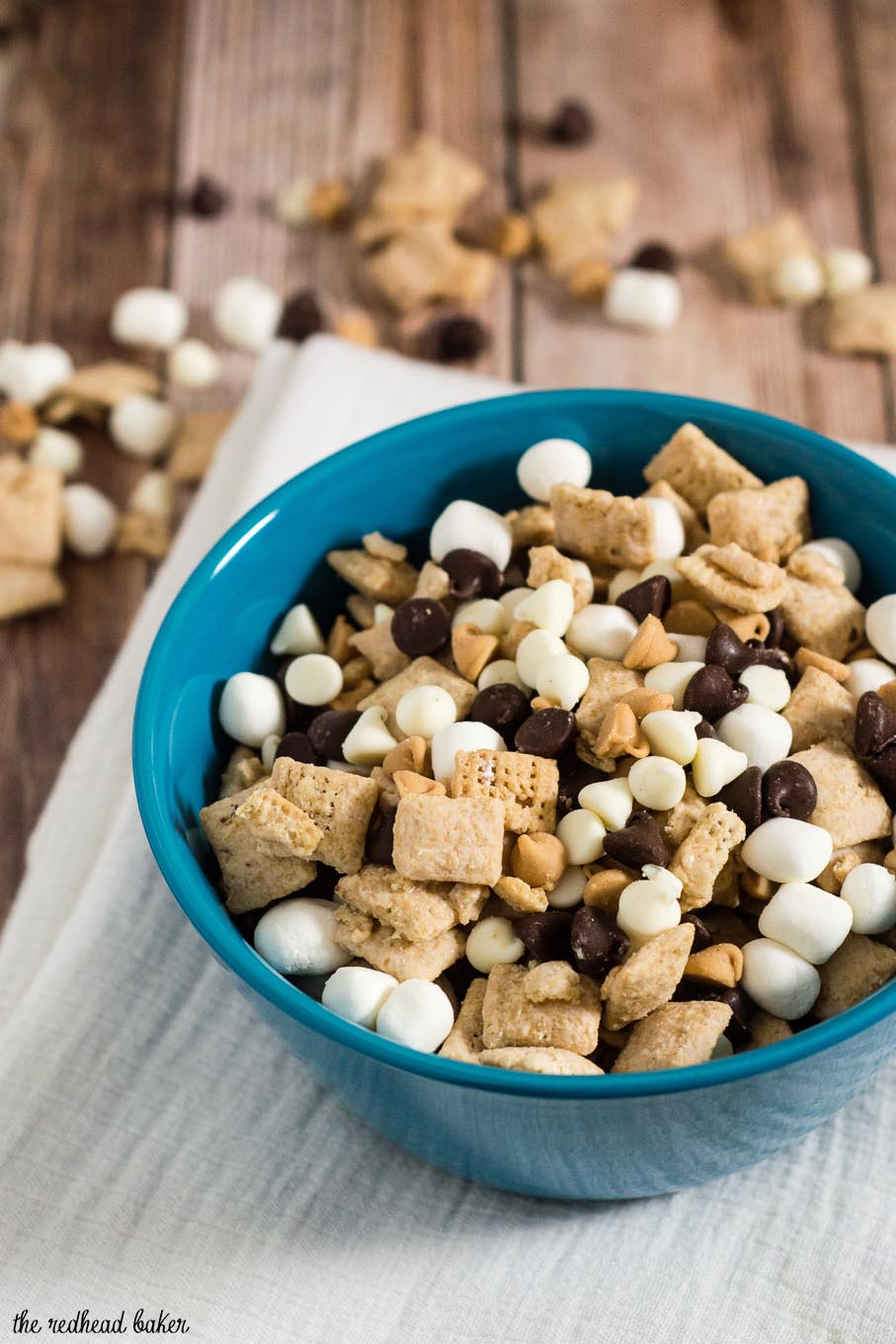 Avalanche Bark Muddy Buddies combine Chex cereal, peanut butter, white chocolate, semisweet chocolate and marshmallows in an addictive snack!